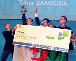 Lors d'une conférence de presse organisée par Microsoft Algérie: La Klein Team présente son trophée