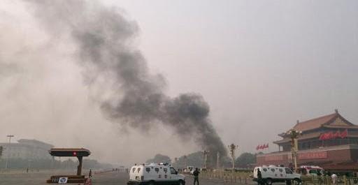 La place Tiananmen bouclée après l'étrange explosion d'une voiture