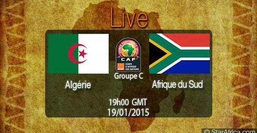 Algérie – Afrique du Sud Streaming live en direct 19/01/2015 à 20:00 sur Algerie360