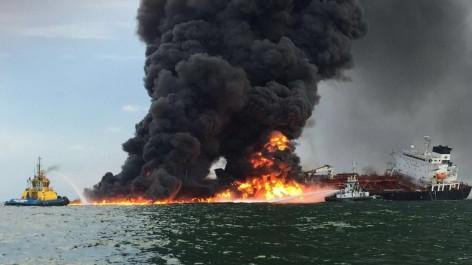 Un tanker prend feu au large du Golfe du Mexique