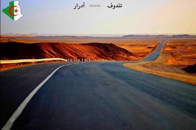 Réception du projet de la route Tindouf-Adrar à la fin de 2017