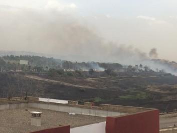 Gigantesque incendie à Dounia Parc Alger