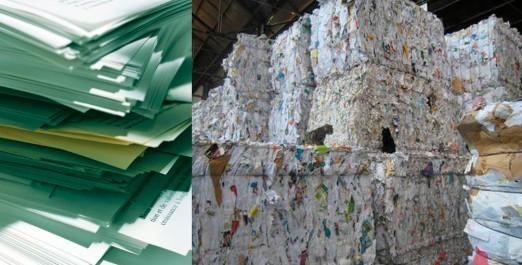 Papier recyclé : seulement 30% sont récupérables.