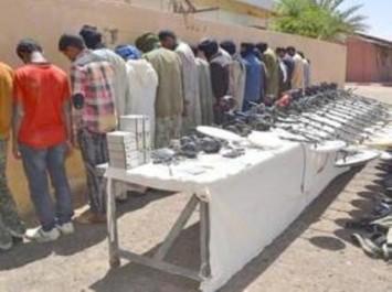 Vingt-sept contrebandiers appréhendés dans le sud du pays