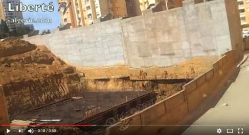 Alger: effondrement de deux bâtisses à El Achour.