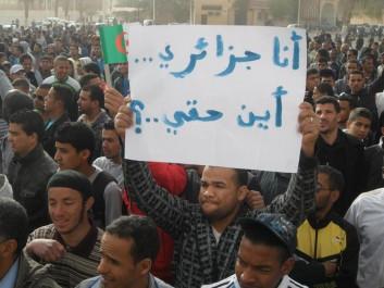 Ouargla: Rassemblement populaire contre le gel des programmes de développement.