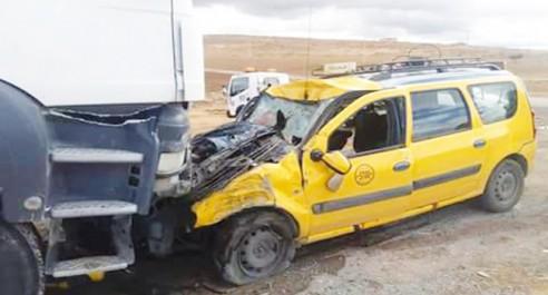 Tiaret : 3 morts et 5 blessés dans un accident de la route