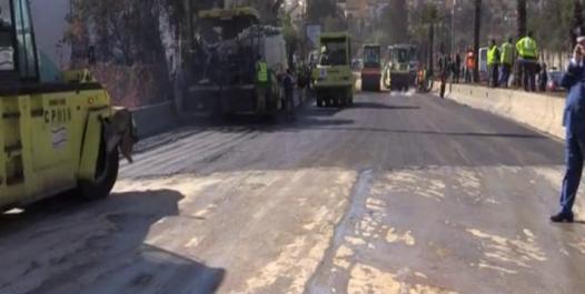 Affaissement de terrain à Ben Aknoun: le tronçon rouvert à la circulation