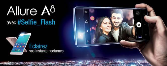 « Condor Electronics » Lance son tout nouveau smartphone : Condor Allure A8 / Selfie Flash : Puissance et Elégance réunies !