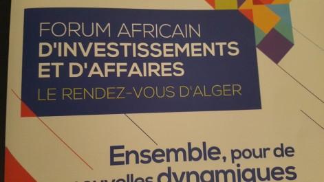 Plus de 2000 participants attendus au forum de l'investissent africain d'Alger les 3,4 et 5 décembre