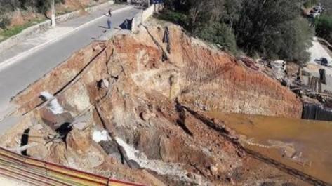 Alger: Route coupée à Bouzaréah en raison d'un glissement de terrain.