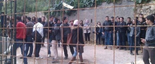 Protestation des étudiants des Beaux-Arts d'Alger