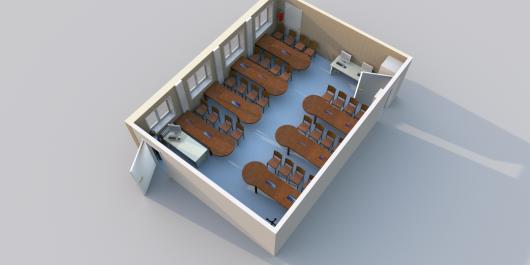Education: Les salles de cours seront équipées de tiroirs pour les élèves.
