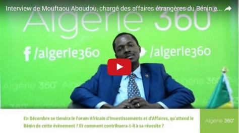 Vidéo: le chargé des affaires étrangères de l'ambassade du Bénin en Algérie répond aux questions d'Algérie360
