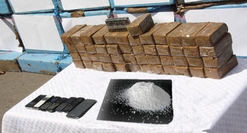 Criminalité : 2 narcotrafiquants arrêtés et 43,5 Kg de kif traité saisis à l'ouest du pays.