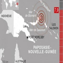 Séisme de magnitude 7.9 au large de la Papouasie Nouvelle Guinée