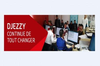 Aprés un mois de travaux de rénovation  Djezzy rouvre sa boutique à Biskra avec un nouveau design