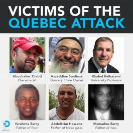Québec se recueille à la mémoire des victimes de l'attentat (Photos)