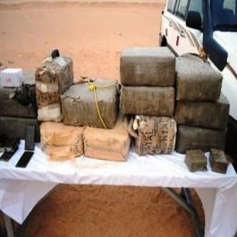 Biskra : un narcotrafiquant appréhendé et saisie de 8 quintaux de kif traité