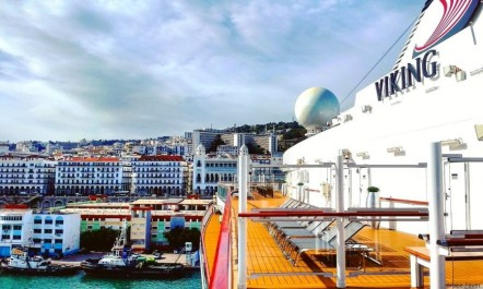 Le bateau de croisière «Viking Sea» accoste au port d'Alger