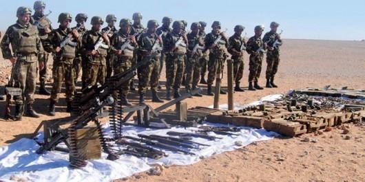 Tamanrasset: Une cache d'armes contenant 22 pièces et des munitions découverte.