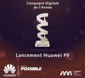 Huawei Algérie remporte l'Algeria Web Award de la meilleure campagne digitale de l'année