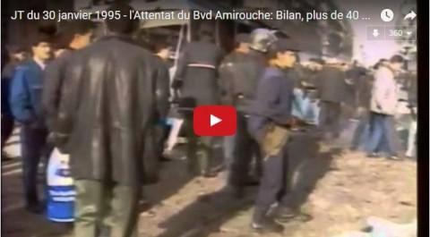 Cela est arrivé le 30 janvier 1995: l'attentat du Boulevard Amirouche à Alger