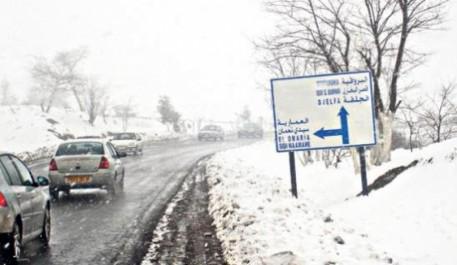 Médéa:  La circulation automobile rétablie, difficile sur certains axes