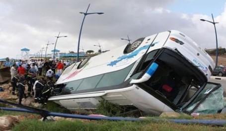 Accident de la circulation à Naâma: Le renversement d'un bus fait 16 blessés