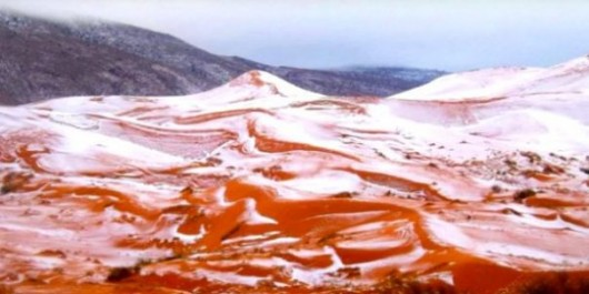 Algérie : il a neigé au Sahara !
