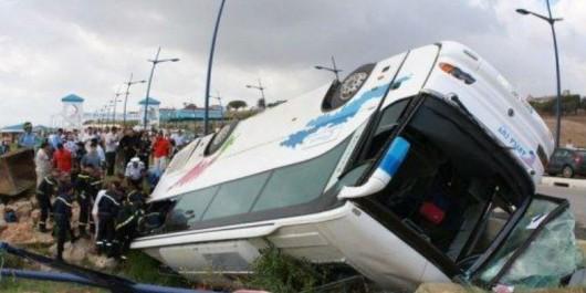 El BayAdh: 17 blessés dans le renversement d'un autocar à Bougtob