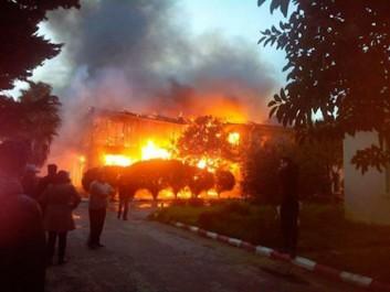 Incendie dans la résidence universitaire de Ben Aknoun