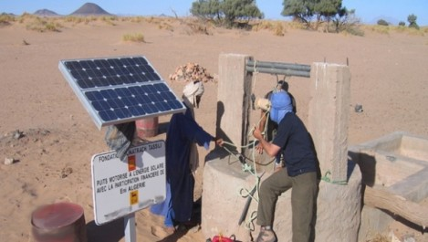 In Salah: Equipement de puits pastoraux en énergie solaire.