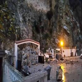 Béjaia: effondrement rocheux, un hôtel touché (Vidéo)