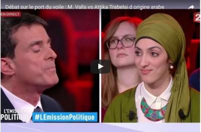 Débat sur le port du voile : Valls vs Attika Trabelsi