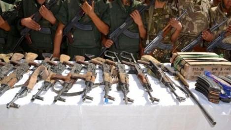 Une importante quantité d'armes et de munitions découverte près des frontières sud du pays (MDN)