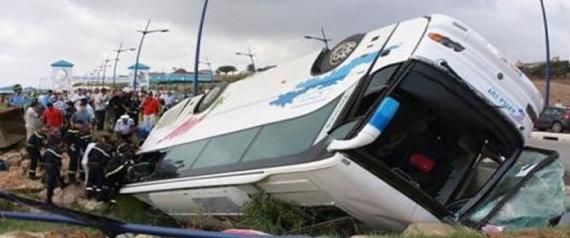 Renversement d'un bus de voyageurs à Médéa : 5 morts et 30 blessés.