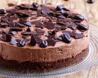 Délicieux cheesecake au chocolat sans cuisson