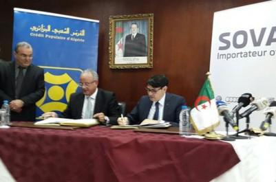 Financement du projet volkswagen: Signature d'une convention entre le CPA et Sovac
