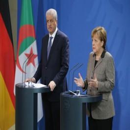 Sellal s'entretient au téléphone avec la Chancelière allemande Angela Merkel