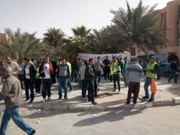 Ouargla : Des dizaines de chômeurs et militants commémorent « Al Maliouniya »