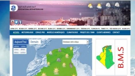 L'ONM lance la carte de vigilance météorologique sur son site web