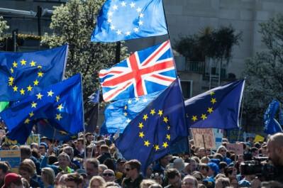 Des milliers de manifestants à Londres contre le Brexit, le jour des 60 ans du Traité de Rome