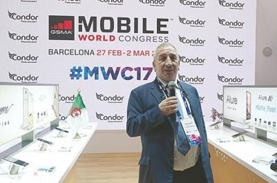 Seule présence algérienne au MWC  2017 de barcelone:  Condor : de nouveaux produits et un contrat avec Google