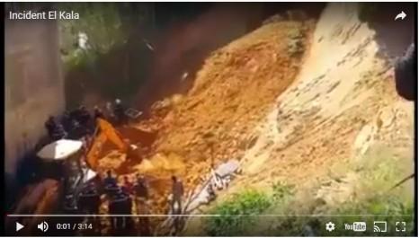 Deux personnes tuées dans un glissement de terrain au vieux port d'El-Kala  (VIDÉO)