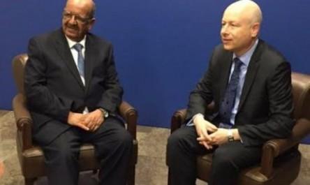 Messahel s'entretient à Amman avec un représentant de Trump