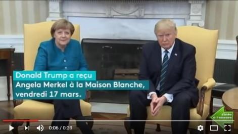 Malaise: Donald Trump a refusé de serrer la main d'Angela Merkel à la Maison-Blanche.
