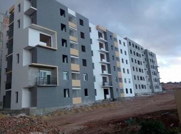 Les travaux de terrassement en phase d'achevement: Une route d'accès entre le CW 73 et la future cité AADL d'Ain El Beida