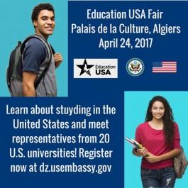 Vingt universités américaines participent au salon EducationUSA organisé par l'ambassade des Etats-Unis à Alger