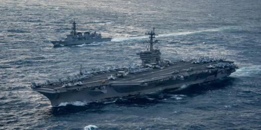 Corée du Nord:Un porte-avions américain et sa flotte en route vers la péninsule coréenne